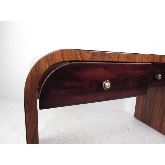 Italian Modern Writing Desk in Rosewood For Sale - Image 9 of 10