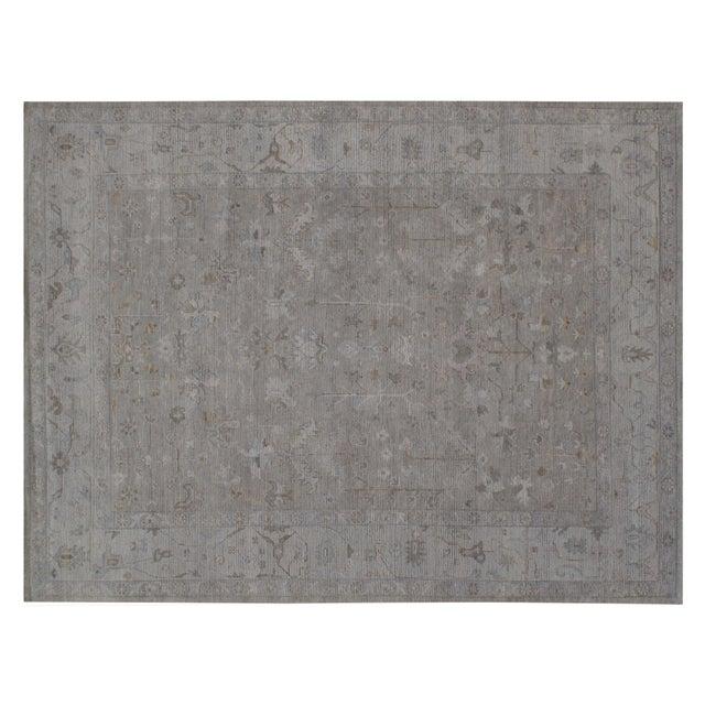 "Traditional Stark Studio Rugs Koze Rug in Grey/Light Blue, 12'0"" x 15'0"" For Sale - Image 3 of 3"