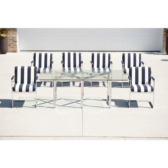 Milo Baughman for Thayer Coggin X Base Chrome Dining Set - 7 Pieces For Sale - Image 13 of 13