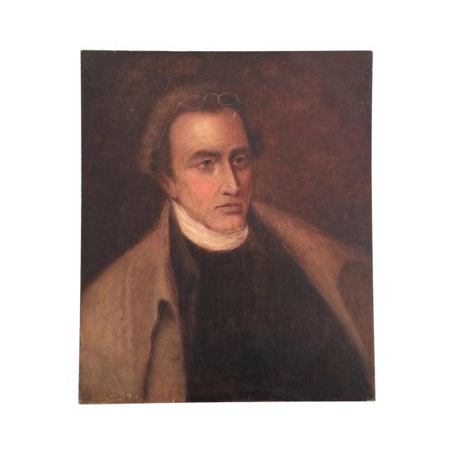 Vintage Oil Portrait Painting of a Gentleman - Image 1 of 4