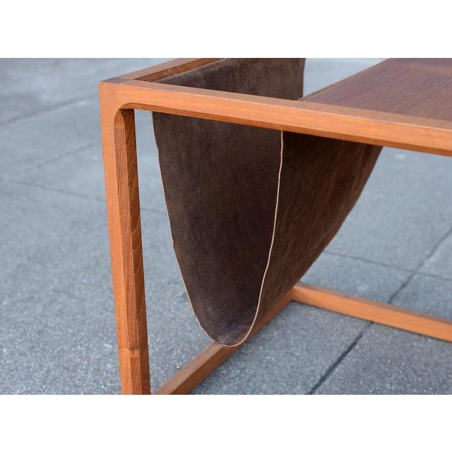 d4b8fbe1a2 Animal Skin Danish Teak Cube Side Table & Magazine Rack For Sale - Image 7  of