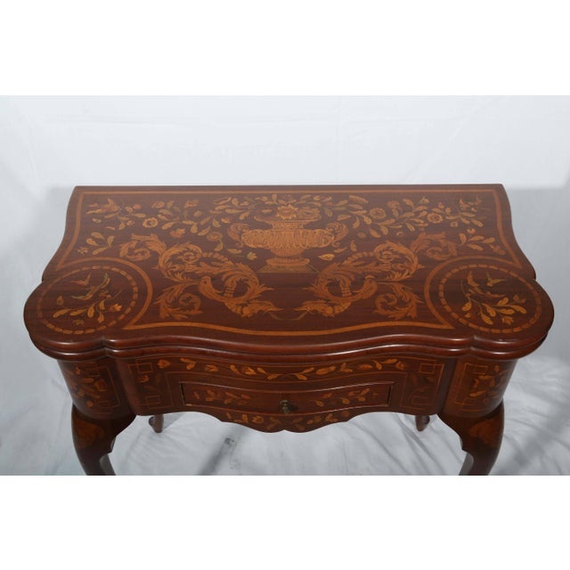 Wood Fine Dutch Marquetry Game Table For Sale - Image 7 of 11