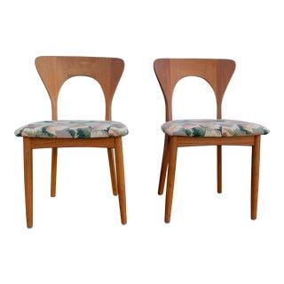 1960s Vintage Niels Kofoed Teak Chairs- A Pair For Sale