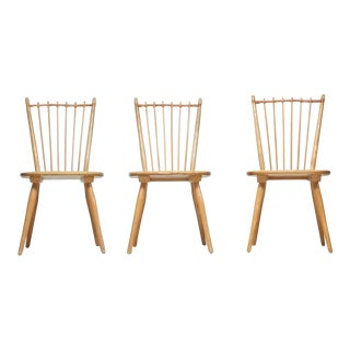 Set of Three Arts and Crafts Chairs by Albert Haberer For Sale