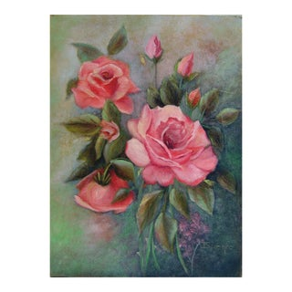 Pink Roses Painting For Sale