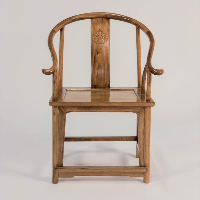 Late 20th Century Mid-Century Modern Elm & Mahogany Yoke Back Chairs - a Pair For Sale - Image 5 of 7