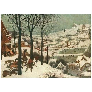 "1950s Pieter Bruegel ""The Hunters in the Snow"" Lithograph For Sale"
