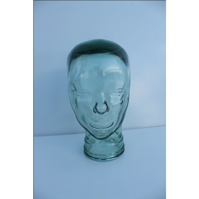 Molded Light Green Glass Head - Image 8 of 9