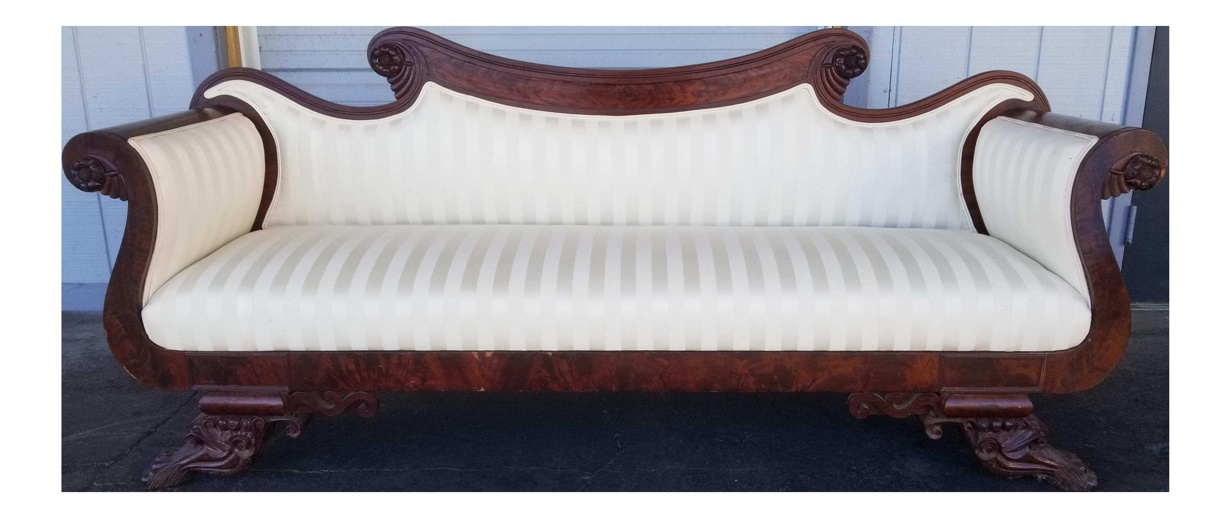 Antique Mahogany Victorian Antique Sofa Stunning Vintage Empire