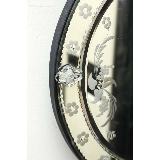 Italian Venetian Style Decorative Round Wall Mirror For Sale - Image 3 of 5