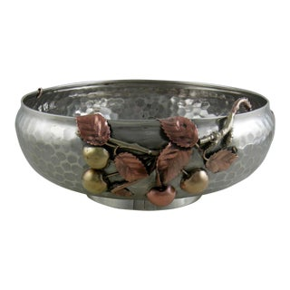Sterling Gorham Mixed Metal Footed Bowl For Sale