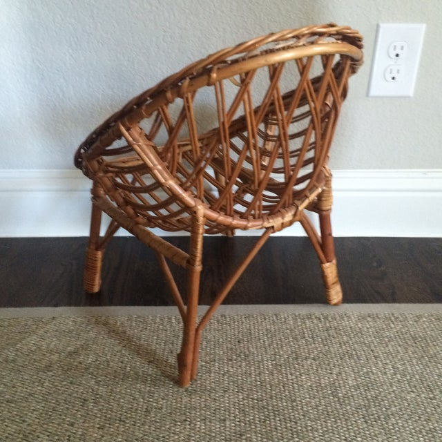 Vintage Child's Wicker Chair - Image 4 of 6