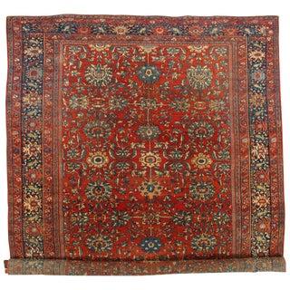 """Traditional Pasargad Persian Antique Sarouk Farahan Rug - 10'3"""" X 17' For Sale"""