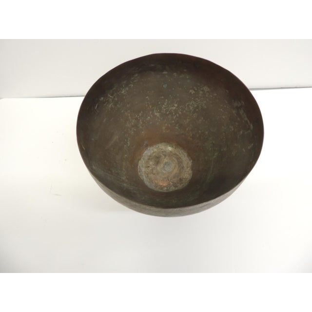 Vintage Edged Copper Persian Decorative Bowl - Image 3 of 4