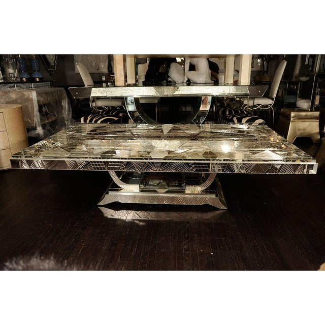 French Art Deco Style Mirrored Table For Sale - Image 10 of 10