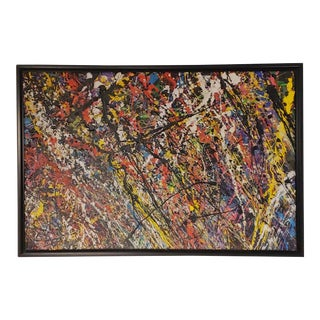 "Abstract Expressionist Painting, E J Gold ""Stellar Compostion 2"" For Sale"