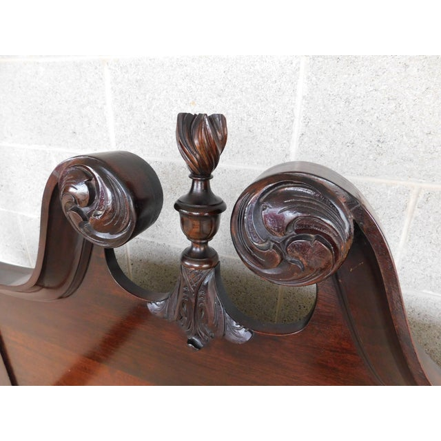 "Features Quality Solid Hand Made Construction, Detailed Carved Posters, with ""L"" Bracket Supports, Bolt Through..."