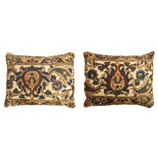 """Vintage Art Deco Baktiari Pillows 1'8"""" H X 1'5"""" W , 1'8"""" H X 1'3"""" W - a Pair For Sale"""