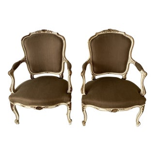 French Fautule Chairs - a Pair For Sale