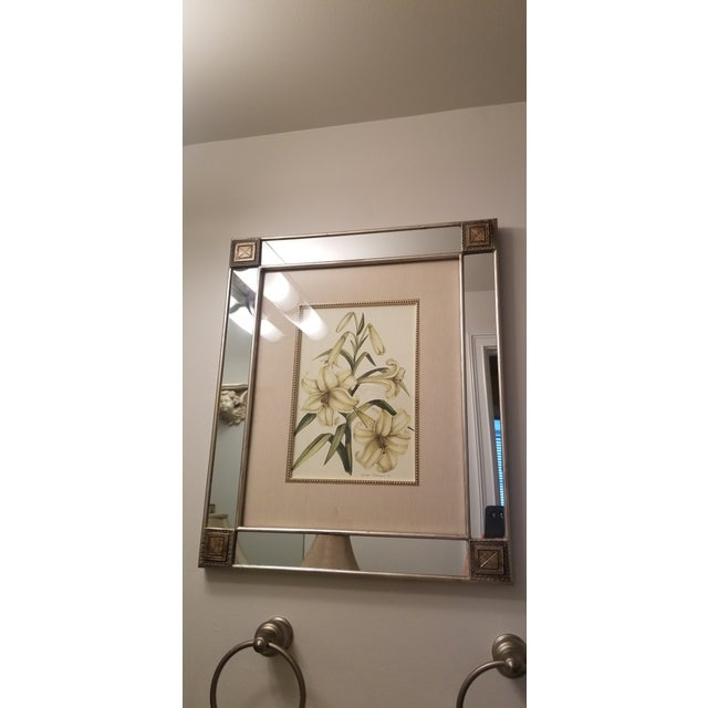 Mirror With Framed Botanical Print For Sale - Image 10 of 11