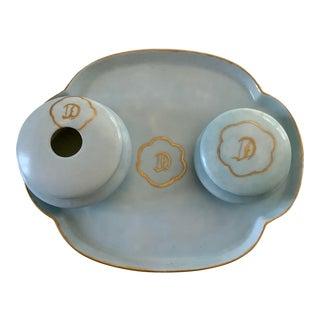 Antique Z. S. & Co. Scherzer Porcelain Dresser Set - 3 Pieces For Sale
