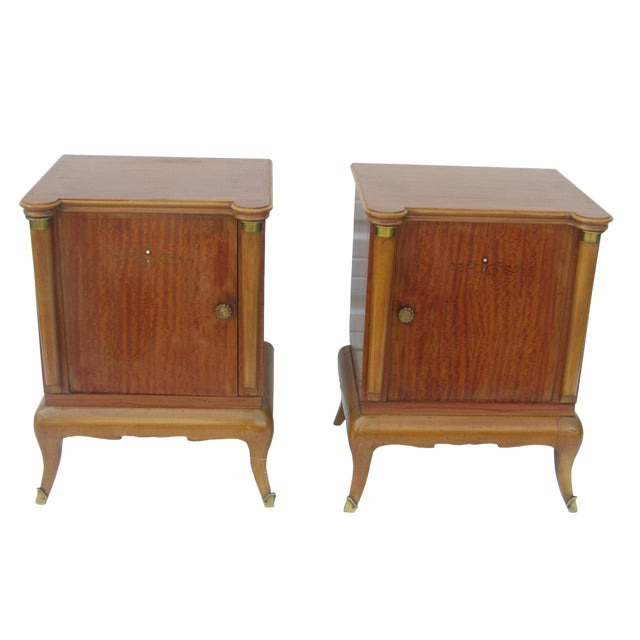 1950s French Maple Nightstands - A Pair - Image 1 of 10