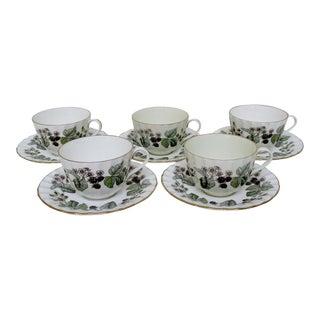 Vintage Royal Worcester Cups & Saucers - 10 Pieces
