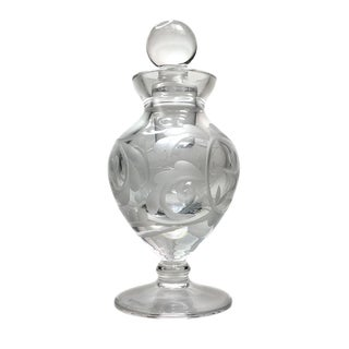 Waterford Engraved Perfume Bottle For Sale
