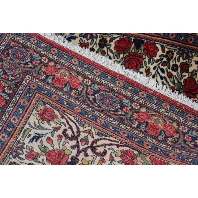 Vintage Persian Bidgar Rug - 5′7″ × 8′7″ For Sale - Image 4 of 7