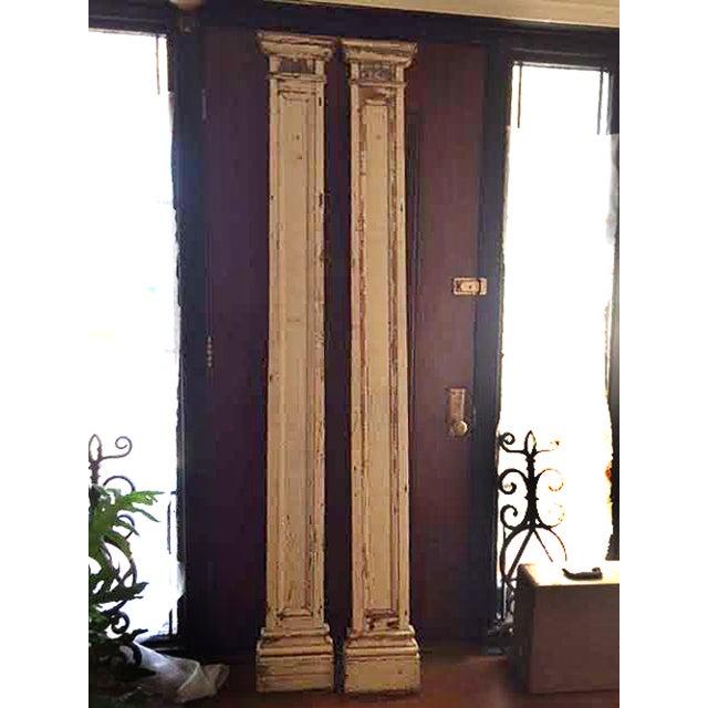 Antique Decorative Architectural Columns - Pair - Image 8 of 9