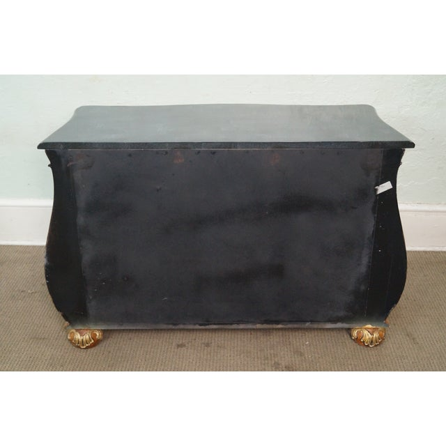 French Louis XV Style Bombe Marble Top Commode Chest For Sale - Image 4 of 9