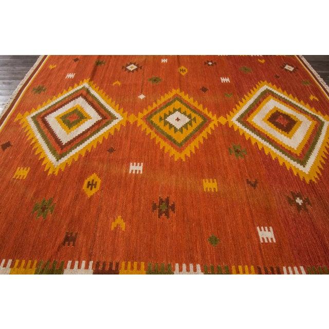 "Apadana - Modern Kilim Rug, 8'7"" x 9'9"" For Sale - Image 5 of 7"