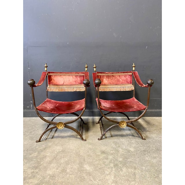 19th Century Italian Campaign Curule Chairs - a Pair For Sale - Image 11 of 11