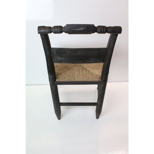 Early 20th Century Early 20th Century Antique Children's Woven Seat Chair For Sale - Image 5 of 6