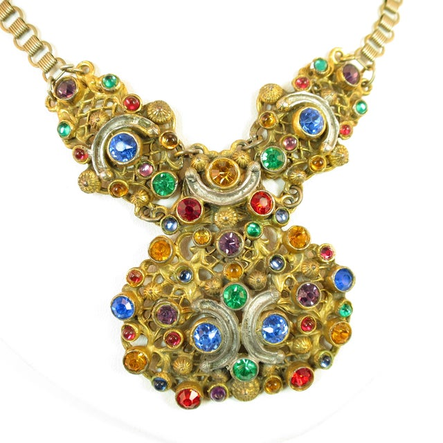 Late 19th Century Victorian Austro-Hungarian Bejeweled Crystal Parure 1870s For Sale - Image 5 of 13