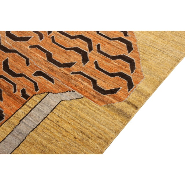 Not Yet Made - Made To Order Handknotted Regal Geometric Tiger Rug, Wheat Gold, 9'x14' For Sale - Image 5 of 9