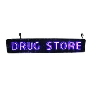 Double-sided Neon Drug Store Sign Circa 1955
