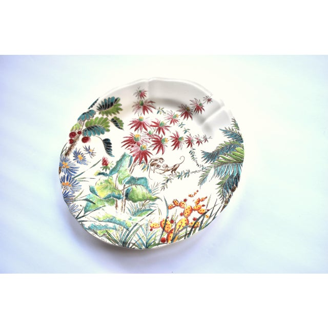 "French Vintage French Gien ""Tamarin"" Pattern 9"" Plate For Sale - Image 3 of 7"