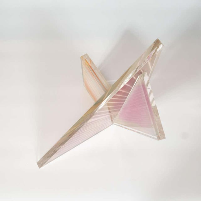 Modern Mid-Century Modern Polychromatic Cast Acrylic Sculpture by Norman Mercer For Sale - Image 3 of 12