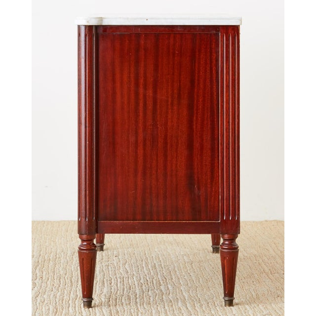 French Louis XVI Style Mahogany MarbleTop Commode Dresser For Sale - Image 11 of 13