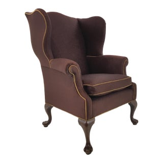 Traditional Antique Irish Wingback Chair For Sale