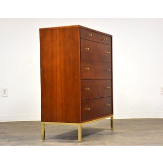 Paul McCobb Style Cherry and Brass Dresser Mid Century Modern Preview