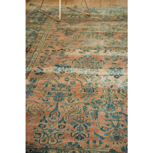 "Antique Distressed Lilihan Carpet - 9' x 11'1"" - Image 7 of 10"