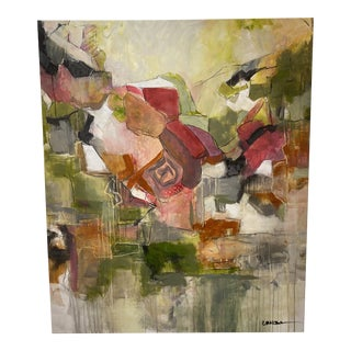 """1960s """"Alta Moda"""" Abstract Mixed-Media Painting by Carol Meosom For Sale"""