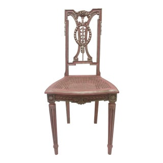 1990s F. Louis XVI Style Chair in Pink For Sale