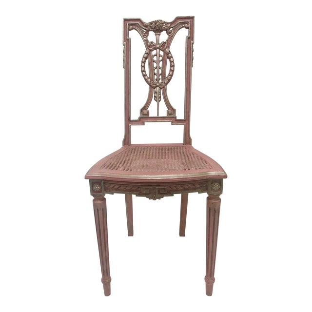 F. Louis XVI Style Chair in Pink For Sale