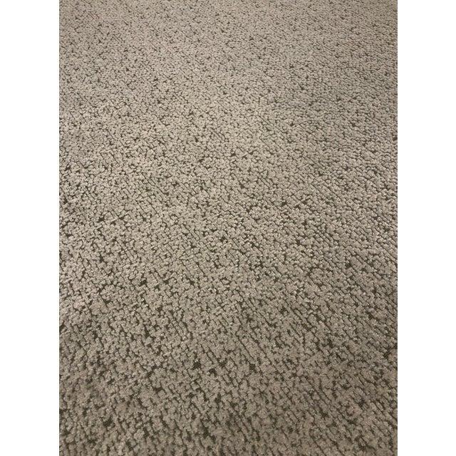 Abstract Mokum Astoria - Transitional Linen Imported Designer Upholstery Velvet Fabric - 16 Yards For Sale - Image 3 of 6