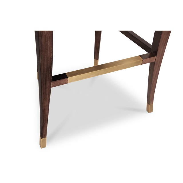 Wood Bourbon Bar Chair From Covet Paris For Sale - Image 7 of 9