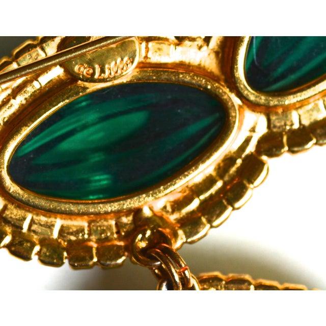 William De Lillo Green Lotus Brooch For Sale - Image 4 of 5