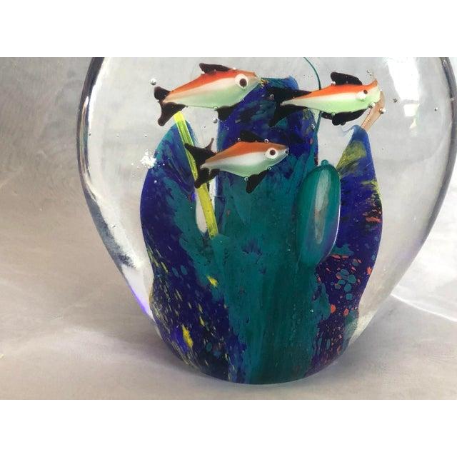 Mid-Century Murano Art Glass Aquarium Sculpture For Sale In New York - Image 6 of 12